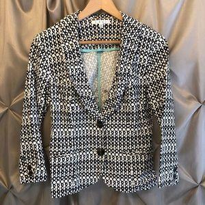 Cabi Black White Women's Blazer Size 4 EUC